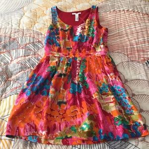 Eliot for Madewell Watercolor Print Silk Dress NWT